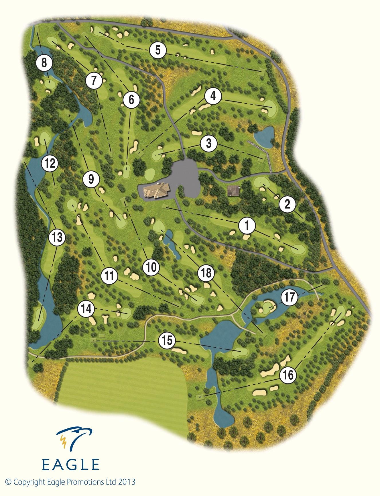 Golf Map Of Ireland.Druids Glen Golf Course Wicklow Druids Glen Hotel Resort