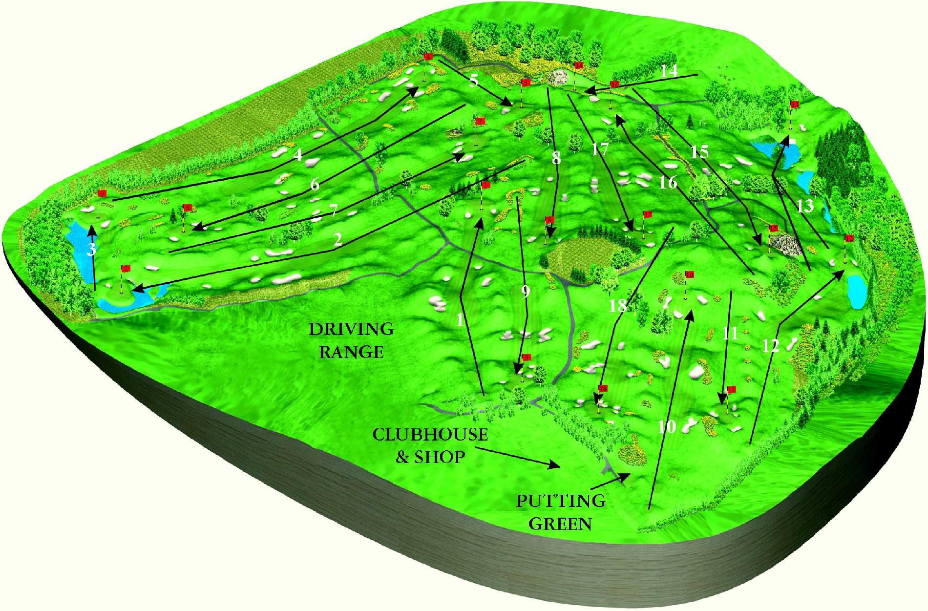 Druids Heath Golf Course Hole Course Wicklow Druids Glen Hotel - Us golf course map